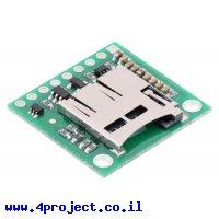 כרטיסון עם מחבר כרטיסי זכרון microSD למערכות של 5V