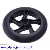 """גלגל סקייטים 144x29 מ""""מ - שחור"""