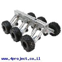 פלטפורמה רובוטית - Mantis 6WD (ללא מנועים)