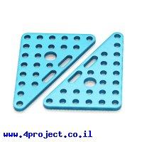 פלטה שטוחה משולשת 6x8