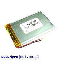 סוללה - LiPoly 3.7V/2200mAh/2C