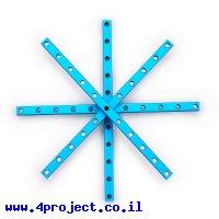 """פרופיל אלומיניום 8x8 מ""""מ - אורך 168 מ""""מ"""
