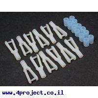 חיבור דחיפה/משיכה פלסטי פשוט - 2-56 - חבילה של 12