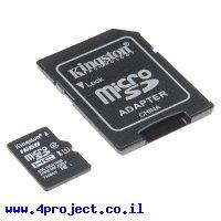 זכרון microSD - 16GB + מתאם