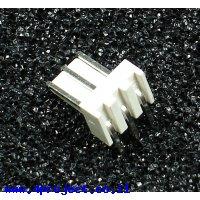 מחבר Molex 3-pin זכר - בזווית