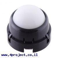 """גלגל כדורי מפלסטיק - 25.4 מ""""מ - גלגליות פלסטיק"""