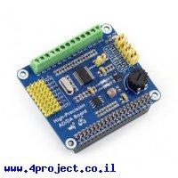 תוסף ל-Raspberry PI עם ממירי ADC/DAC