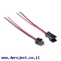 מחבר JST-SM 2-pin עם חוטים AWG24