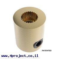 """מצמד קשיח למנוע סרוו ציר C1 - ציר 1/4"""" (6.35 מ""""מ)"""
