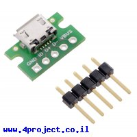 כרטיסון עם מחבר USB MicroB נקבה - Pololu
