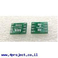 כרטיסון מתאם SOP8/SOIC8 0.65/1.27mm