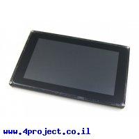 """מסך מגע קיבולי LCD 7"""" 1024x600, מסגרת, ממשק RGB/LVDS"""