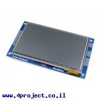 """מסך מגע קיבולי LCD 7"""" 800x480, ממשק 8080"""