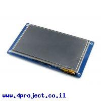 """מסך מגע קיבולי LCD 7"""" 800x480, ממשק RGB, ממשק מגע נפרד"""