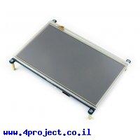 """מסך מגע LCD 7"""" 1024x600, ממשק HDMI, ממשק מגע SPI"""