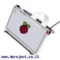 """מסך LCD 7"""" IPS 1024x600, ממשק RPi, ללא מנגנון מגע"""