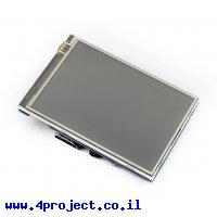 """מסך מגע LCD IPS 3.5"""" 480x320, ממשק HDMI, ממשק מגע RPi"""