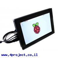 """מסך קיבולי LCD 10.1"""" IPS 1280x800, מסגרת, ממשק HDMI, מגע USB"""