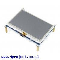 """מסך מגע LCD 4.3"""" 480x272, ממשק HDMI, ממשק מגע RPi"""