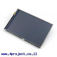 """מסך מגע LCD IPS 4"""" 480x320, ממשק RPi"""