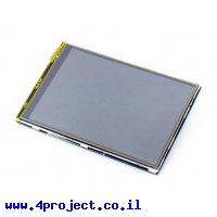 """מסך מגע LCD IPS 3.5"""" 480x320, ממשק RPi"""