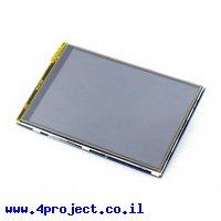 """מסך מגע LCD 3.5"""" 480x320, ממשק RPi"""