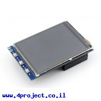 """מסך מגע LCD 3.2"""" 320x240, ממשק RPi"""