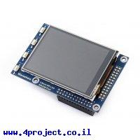 """מסך מגע LCD 2.8"""" 320x240, ממשק RPi"""