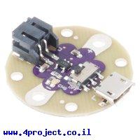 מטען סוללות LiPoly תא אחד - סדרת LilyPad