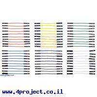 """חוט גישור איכותי - נקבה/נקבה 5 ס""""מ - חבילה של 60 צבעוניים"""