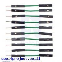 """חוט גישור איכותי - זכר/נקבה 2.5 ס""""מ - חבילה של 10 ירוקים"""