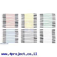 """חוט גישור איכותי - זכר/נקבה 5 ס""""מ - חבילה של 60 צבעוניים"""