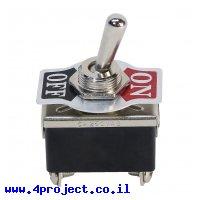 מפסק מיתוג ON/OFF - DPST - 250V/10A