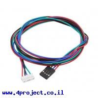 כבל JST2.0-6pin לשורה 4pin אורך 1 מטר