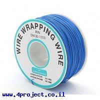חוט WireWrap חד גידי - AWG30 - כחול - 250 מטר