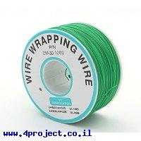 חוט WireWrap חד גידי - AWG30 - ירוק - 250 מטר