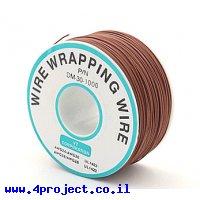 חוט WireWrap חד גידי - AWG30 - חום - 250 מטר