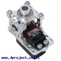 מחזיק מנוע ServoBlock™ למנועי סרוו בגודל סטנדרטי עם ציר C1-24T - ציר ישר