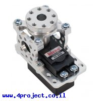 מחזיק מנוע ServoBlock™ למנועי סרוו בגודל סטנדרטי עם ציר C1-24T - ציר עם חורים 6-32