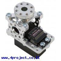 מחזיק מנוע ServoBlock™ למנועי סרוו בגודל סטנדרטי עם ציר 3F-25T - ציר עם חורים 6-32