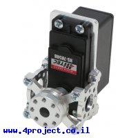 מחזיק מנוע ServoBlock™ למנועי סרוו בגודל 1/4 עם ציר C1-24T - ציר עם חורים 6-32