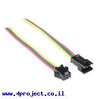 מחבר JST-SM 3-pin עם חוטים