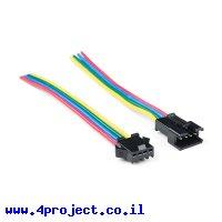 מחבר JST-SM 4-pin עם חוטים