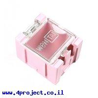 """קופסה מודולרית לאחסון רכיבים - 25x31.5x21.5 מ""""מ - ורוד"""