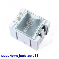 """קופסה מודולרית לאחסון רכיבים - 25x31.5x21.5 מ""""מ - תכלת"""