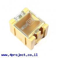 """קופסה מודולרית לאחסון רכיבים - 25x31.5x21.5 מ""""מ - צהוב"""