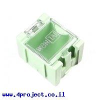 """קופסה מודולרית לאחסון רכיבים - 25x31.5x21.5 מ""""מ - ירוק"""