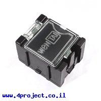 """קופסה מודולרית לאחסון רכיבים - 25x31.5x21.5 מ""""מ - שחור (אנטי-סטטי)"""