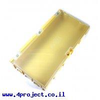 """קופסה מודולרית לאחסון רכיבים - 125x63x21.5 מ""""מ - צהוב"""