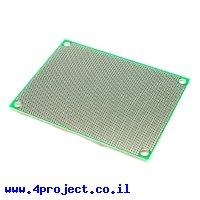"""לוח הלחמה דו-צדדי 60x80 מ""""מ - חורים 1.27 מ""""מ"""